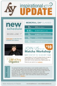 Weekly email newsletter.